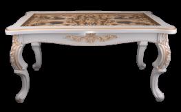 Стол журн. прям Версаль стекло копия